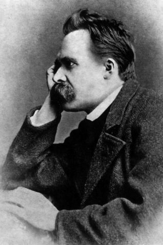 Bild: Friedrich Nietzsche (Urheber: Von Gustav-Adolf Schultze (d. 1897) - Nietzsche by Walter Kaufmann, Princeton Paperbacks, Fourth Edition. ISBN 0-691-01983-5, Gemeinfrei, https://commons.wikimedia.org/w/index.php?curid=95963)