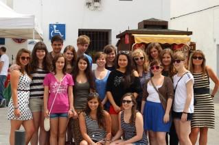 Bild: Die TeilnehmerInnen an der Spaniensprachreise 2013 beim Gruppenphoto