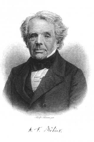 Bild: August Ferdinand Möbius (Urheber: Von Adolf Neumann (1825-1884) - http://www.mathematik.de/mde/information/kalenderblatt/kreisverwandteabbildungen/bilder/moebius-1000.png, Gemeinfrei, https://commons.wikimedia.org/w/index.php?curid=1602074)